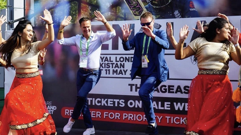 WATCH – Michael Vaughan and Phil Tufnell try their hands at bhangra