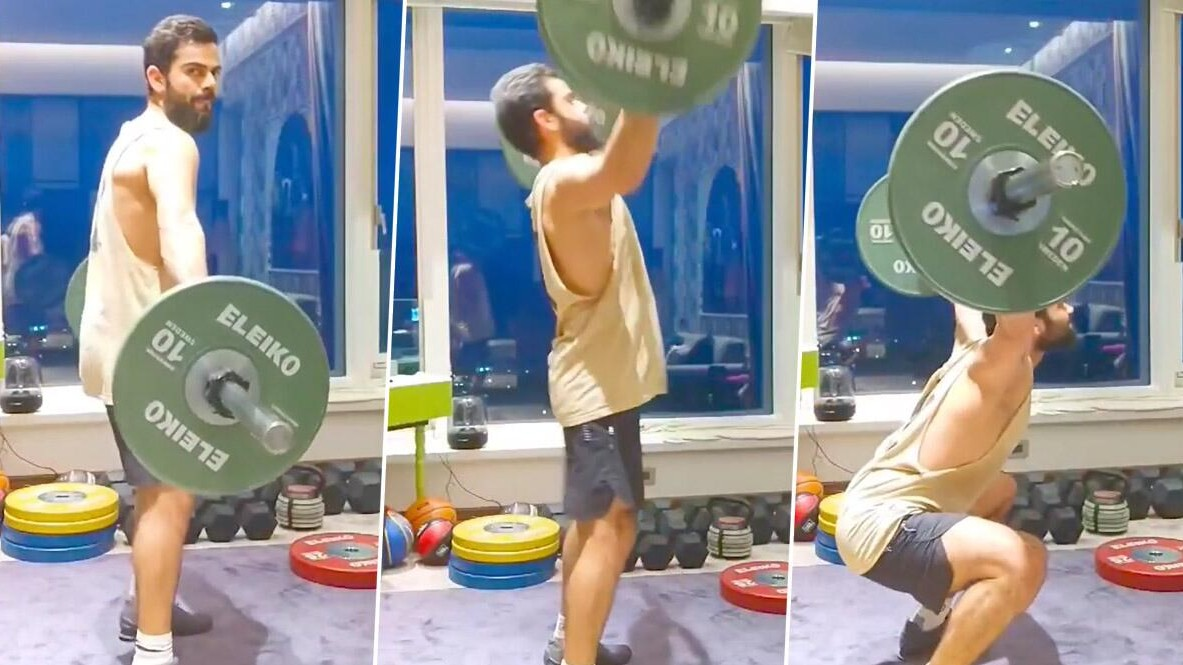 WATCH: Virat Kohli pulls off 'power snatch' exercise to perfection; shares video on Instagram