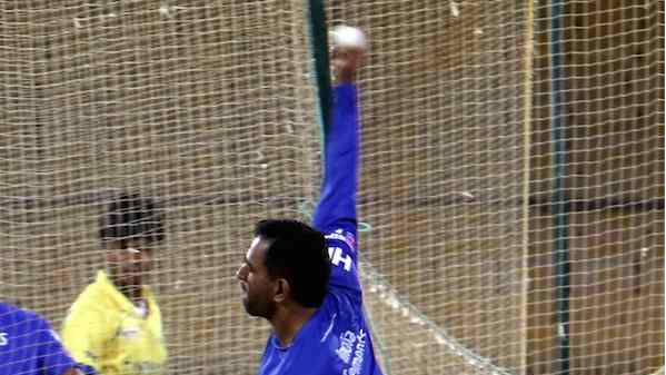 IPL 2018: Pic- MS Dhoni bowling spin in the CSK nets