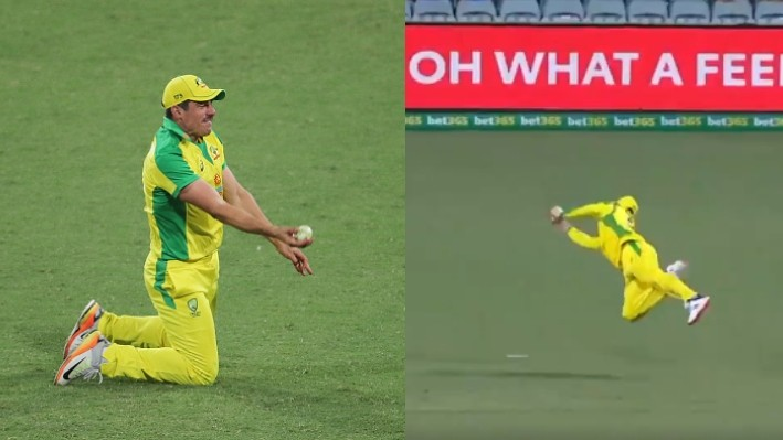 AUS v IND 2020-21: WATCH - Smith and Henriques take stunning catches to dismiss Iyer and Kohli