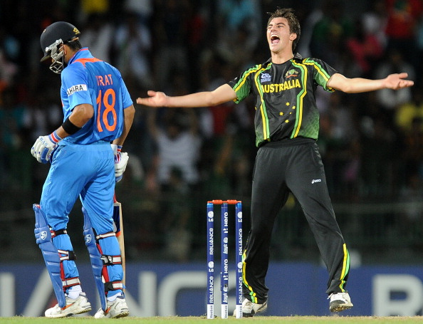 File Picture: Pat Cummins celebrates Virat Kohli's wicket | GETTY