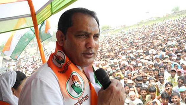 Mohammad Azharuddin campaigining for Congress | Azhar.co