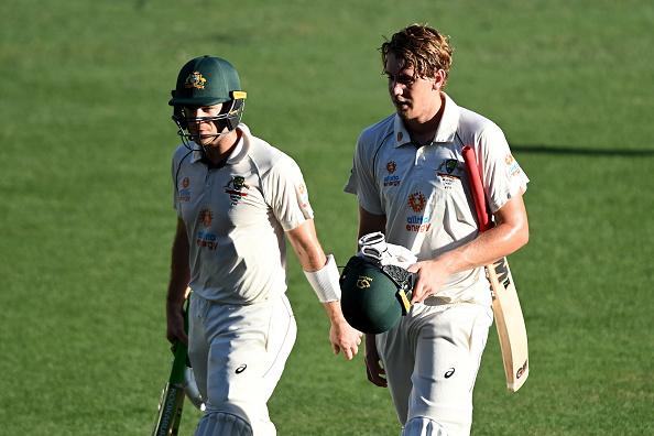 Onus now on crucial Green-Paine partnership to take Australia to advantage, said Ponting   Getty