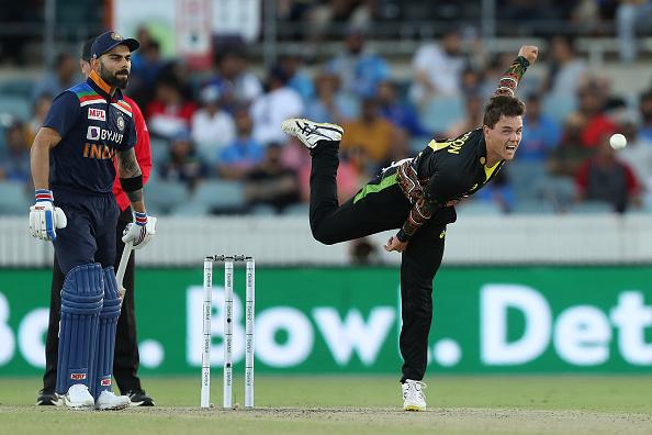 Mitchell Swepson dismissed Virat Kohli in the 1st T20I   Getty Images