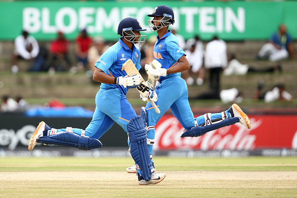 Jaiswal and Saxena made unbeaten fifties and took India to 115/0 when rain came | Getty