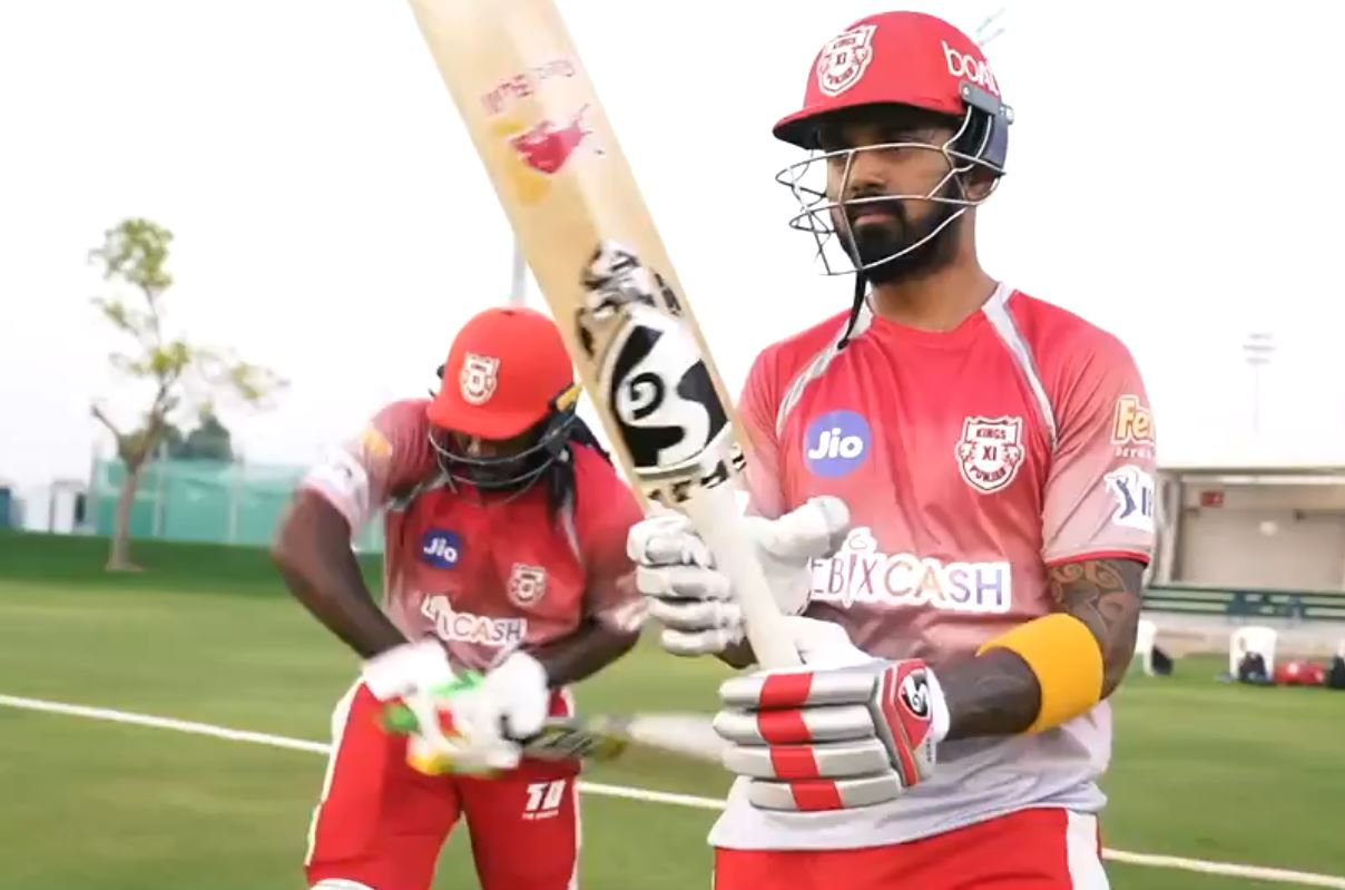 Chris Gayle and KL Rahul open the batting | KXIP Twitter