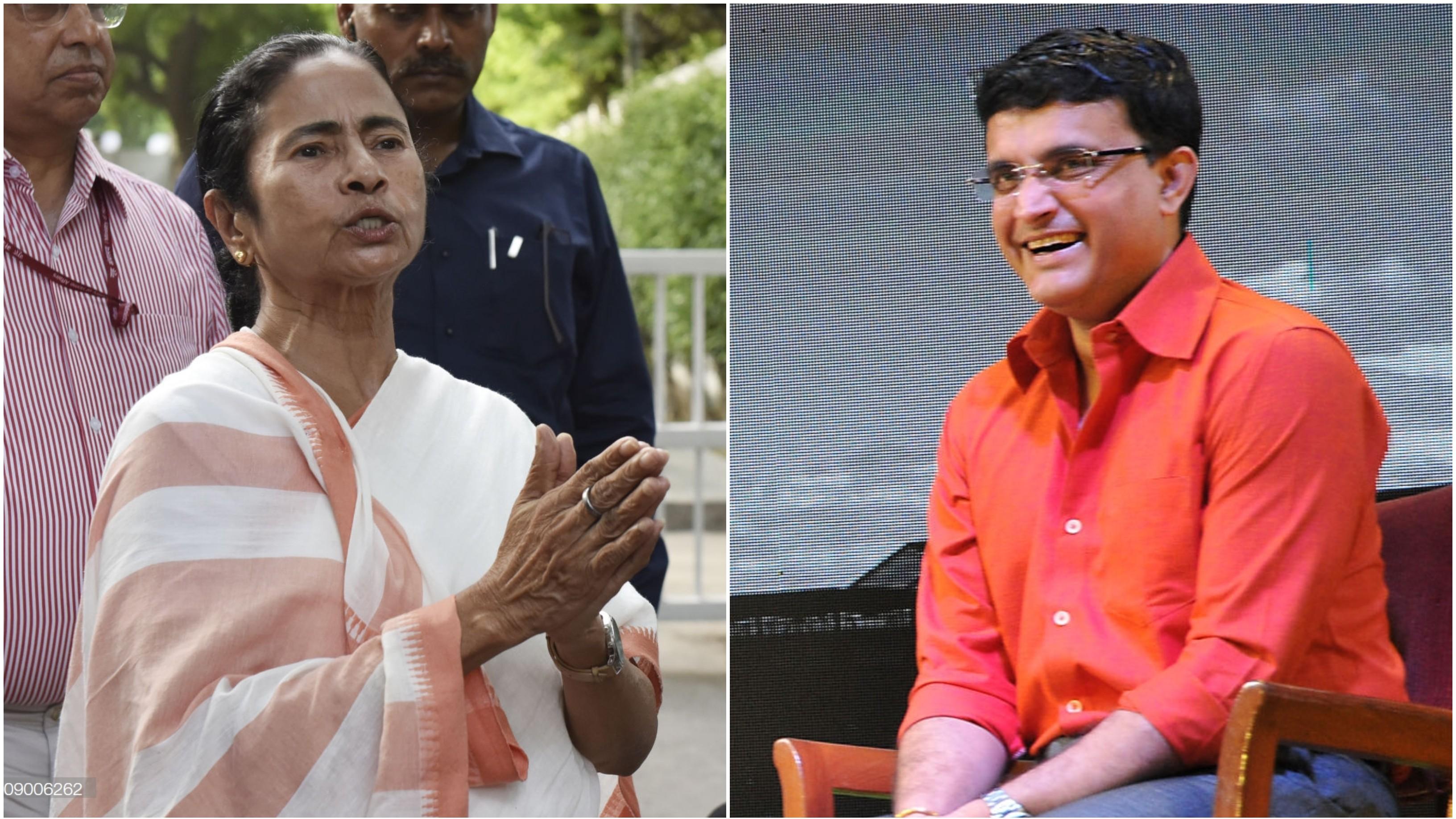 बीसीसीआई का अध्यक्ष बनने के लिए पश्चिम बंगाल की मुख्यमंत्री ममता बनर्जी ने दी सौरव गांगुली को बधाई