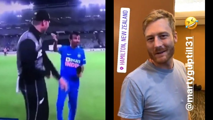 NZ v IND 2020: Chahal pulls Martin Guptill's leg after video of him using Hindi slur goes viral