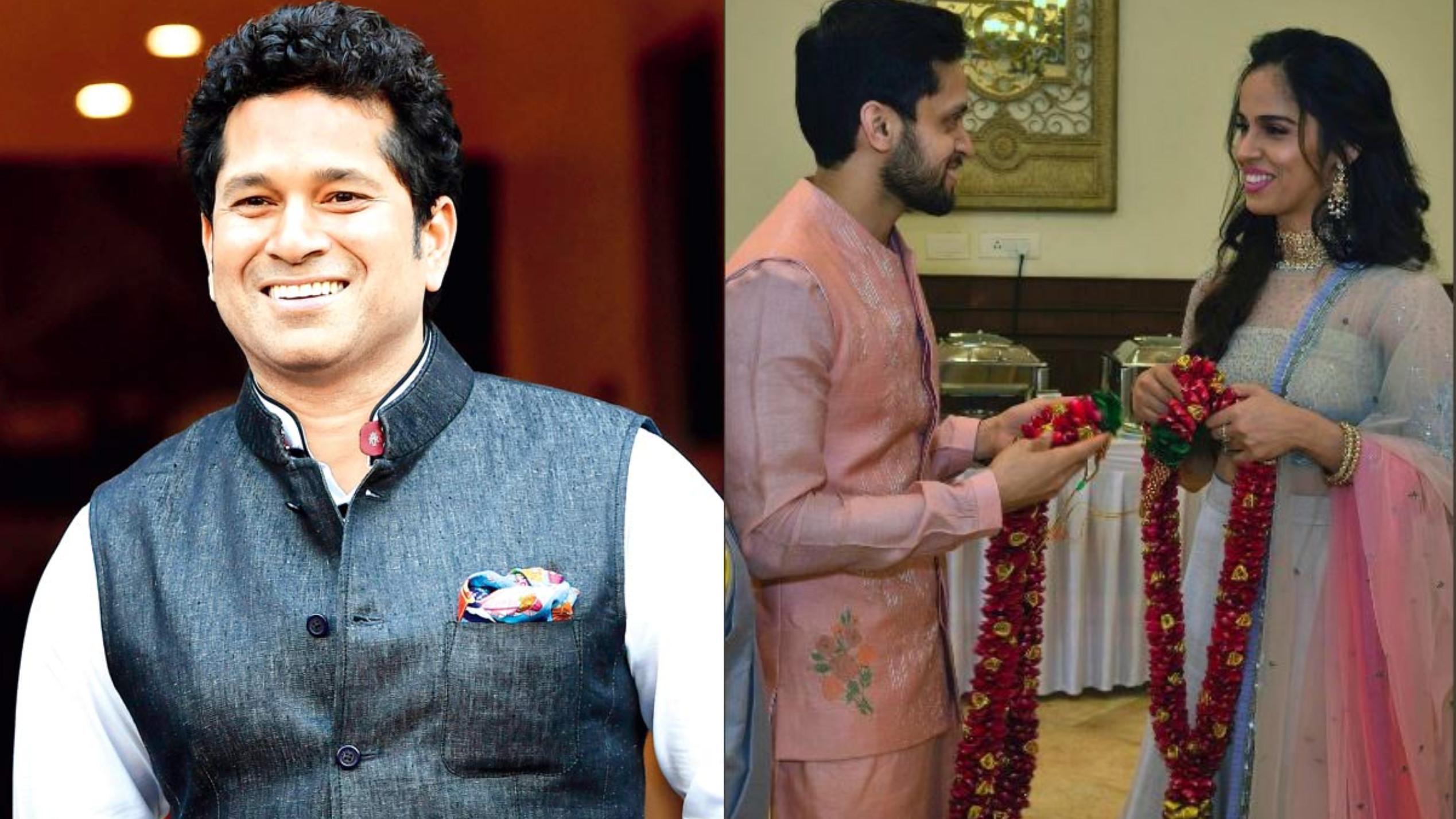सचिन तेंदुलकर सहित इन खिलाड़ियों ने दी सायना नेहवाल और परुपल्ली कश्यप को शादी की शुभकामनाये