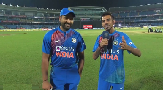 Rohit Sharma and Yuzvendra Chahal | Twitter