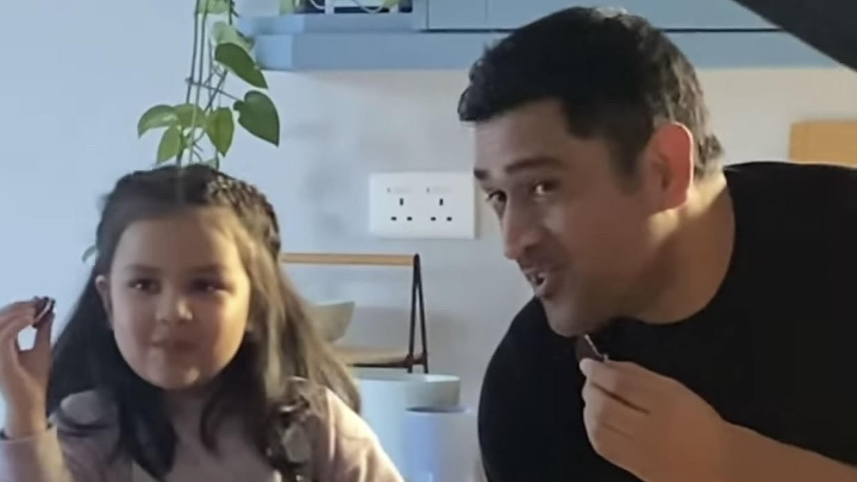 WATCH - Behind the scenes of Ziva's ad shoot with father MS Dhoni