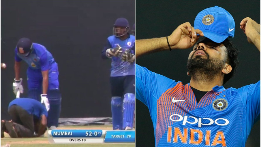 WATCH: Fan bows down to Rohit Sharma's feet during Vijay Hazare Trophy match