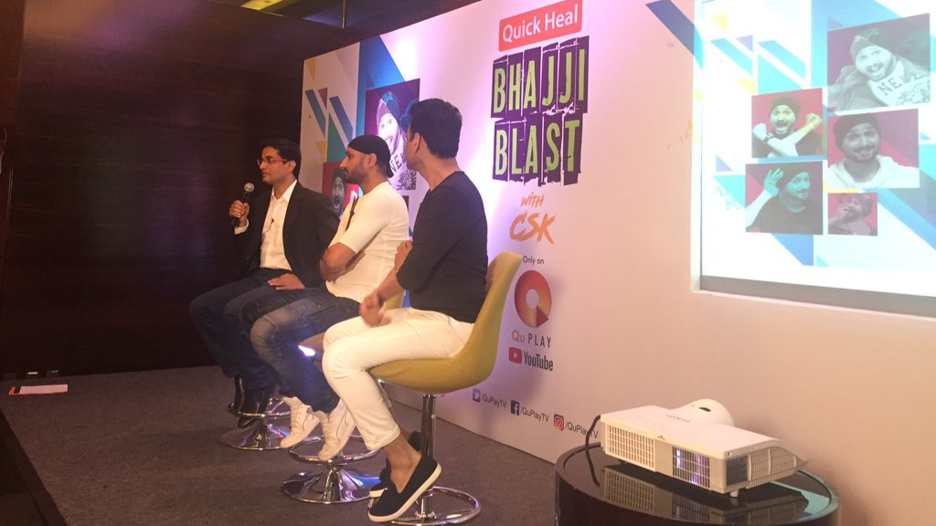 "Harbhajan Singh launches his own talk show ""Quick Heal Bhajji Blast with CSK"""