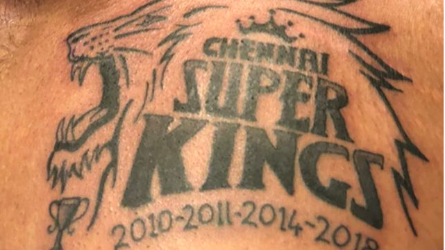 IPL 2018: CSK team manager shows his love for the franchise by etching new tattoo