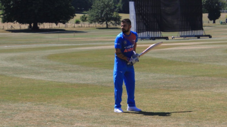 Watch – Virat Kohli seen batting left handed during India team's net session at Hertfordshire