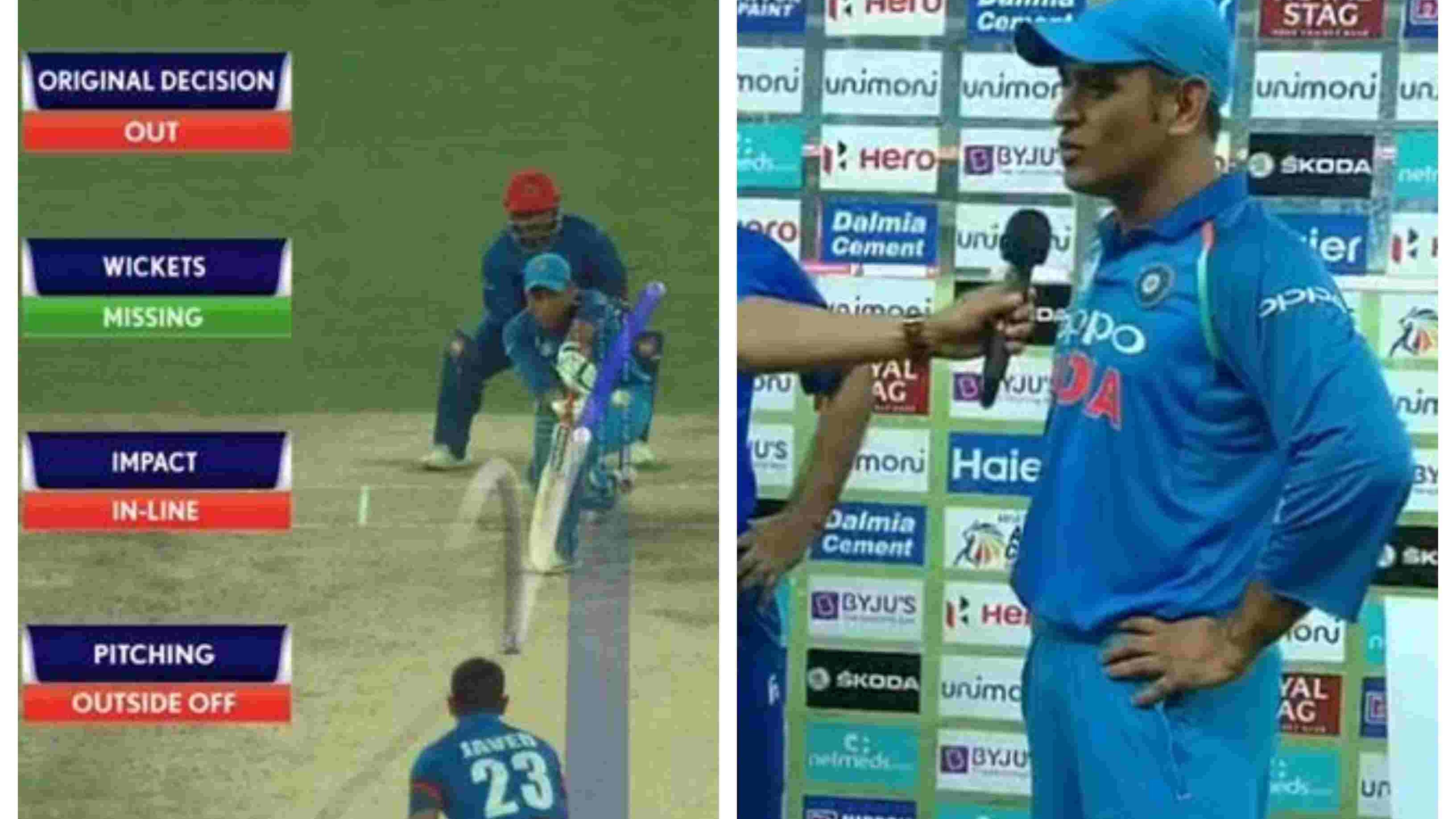 ASIA CUP 2018: MS Dhoni takes a subtle dig at umpiring errors after India-Afghanistan match ended in a tie