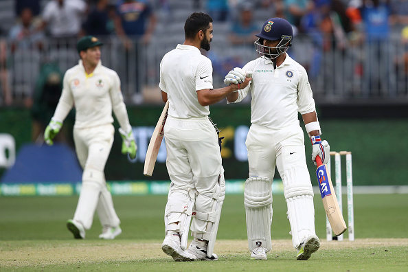Rahane and Kohli looked in terrific touch during their unbeaten 90-run stand on Day 2 at Perth | Getty