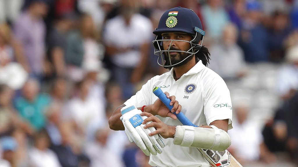 It wasn't supposed to end like this for Murali Vijay
