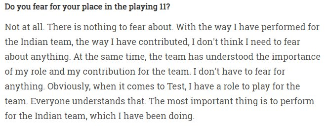 Pujara's answer on being asked if he was fearful of losing his place in the team despite low scores | Twitter