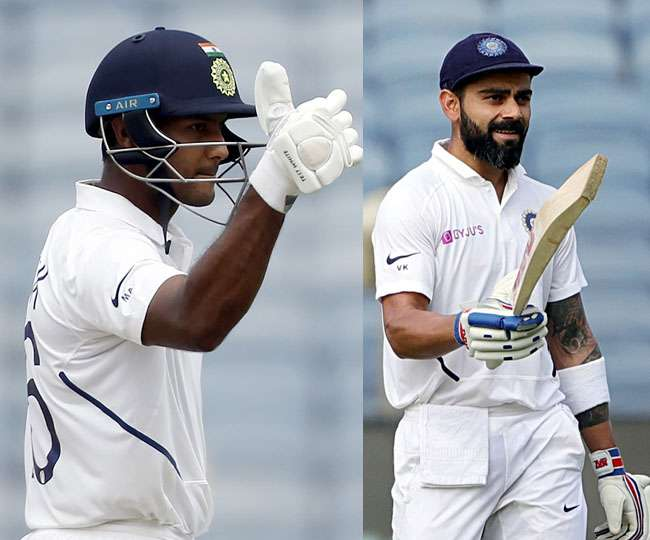 Mayank with 108 and Kohli with 254* were the stars with the bat