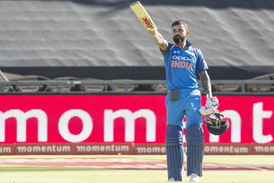Virat Kohli celebrating his 34th ODI ton against the Proteas in Cape Town | BCCI