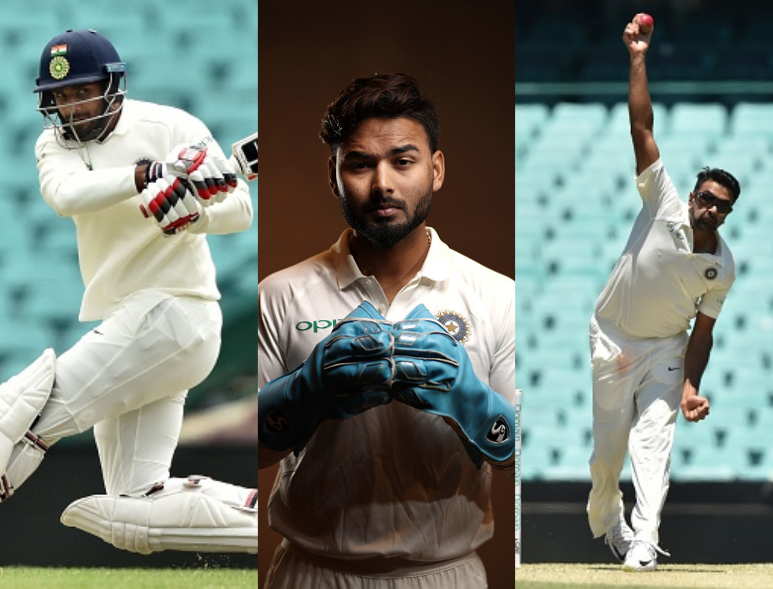 Hanuma Vihari, RIshabh Pant and R Ashwin are most likely to form the lower middle order of team India | Getty