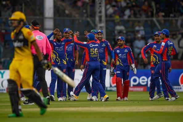 Karachi Kings players celebrating their win   Getty