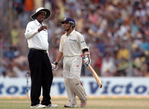 Sachin Tendulkar and Steve Bucknor | Getty