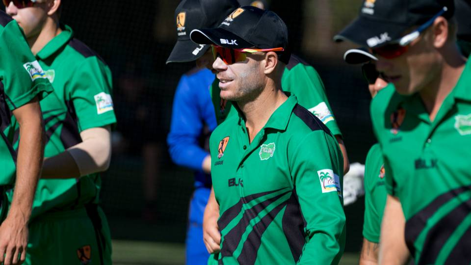David Warner was a part of the victorious Cyclones side. (Cricket Australia)