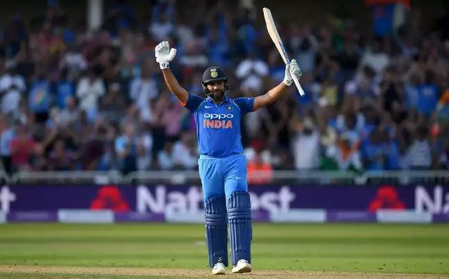 Rohit Sharma after his century | Source Getty
