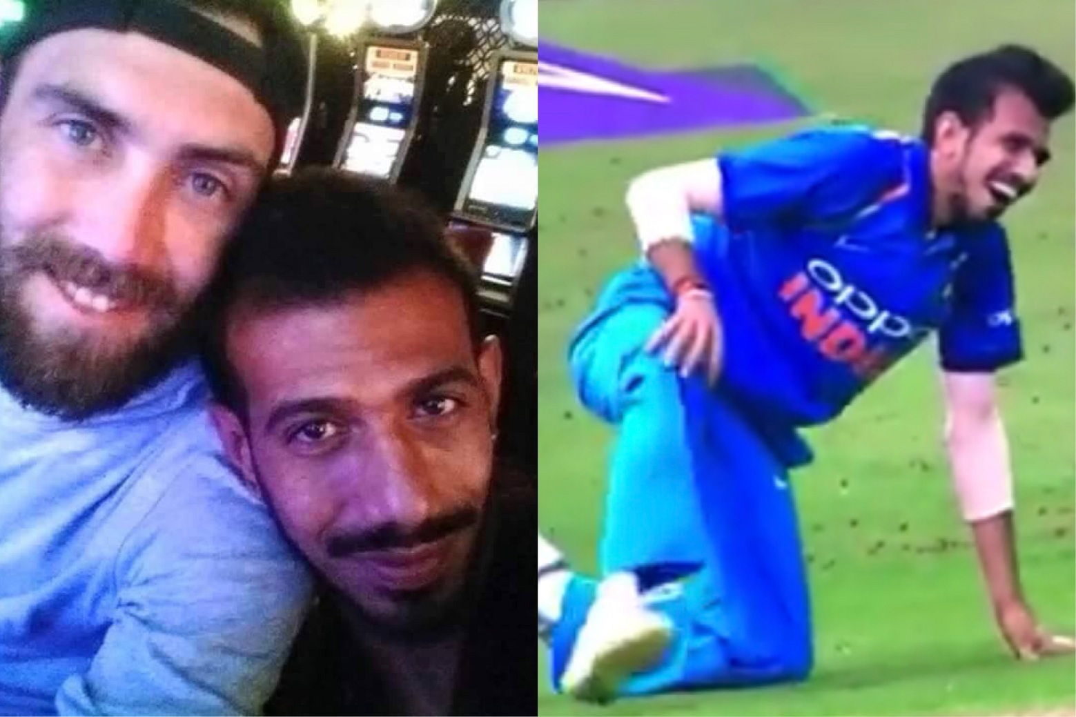 Yuzvendra Chahal and Glenn Maxwell often exchange in banter