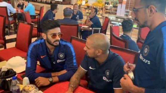 Khaleel Ahmed, Shikhar Dhawan, and Yuzvendra Chahal   Instagram
