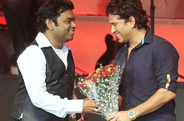 Sachin Tendulkar shares a very good camaraderie with AR Rahman | Getty