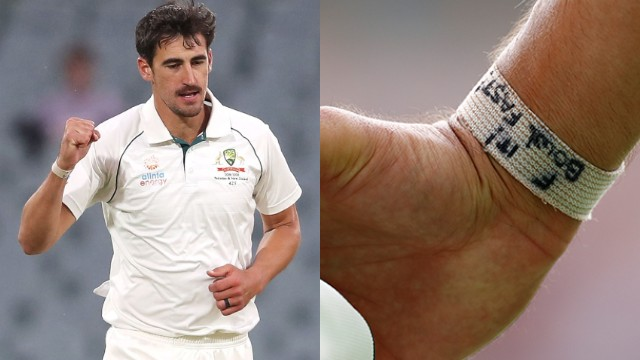 AUS v PAK 2019: Mitchell Starc motivates himself with a nice message on his wrist band