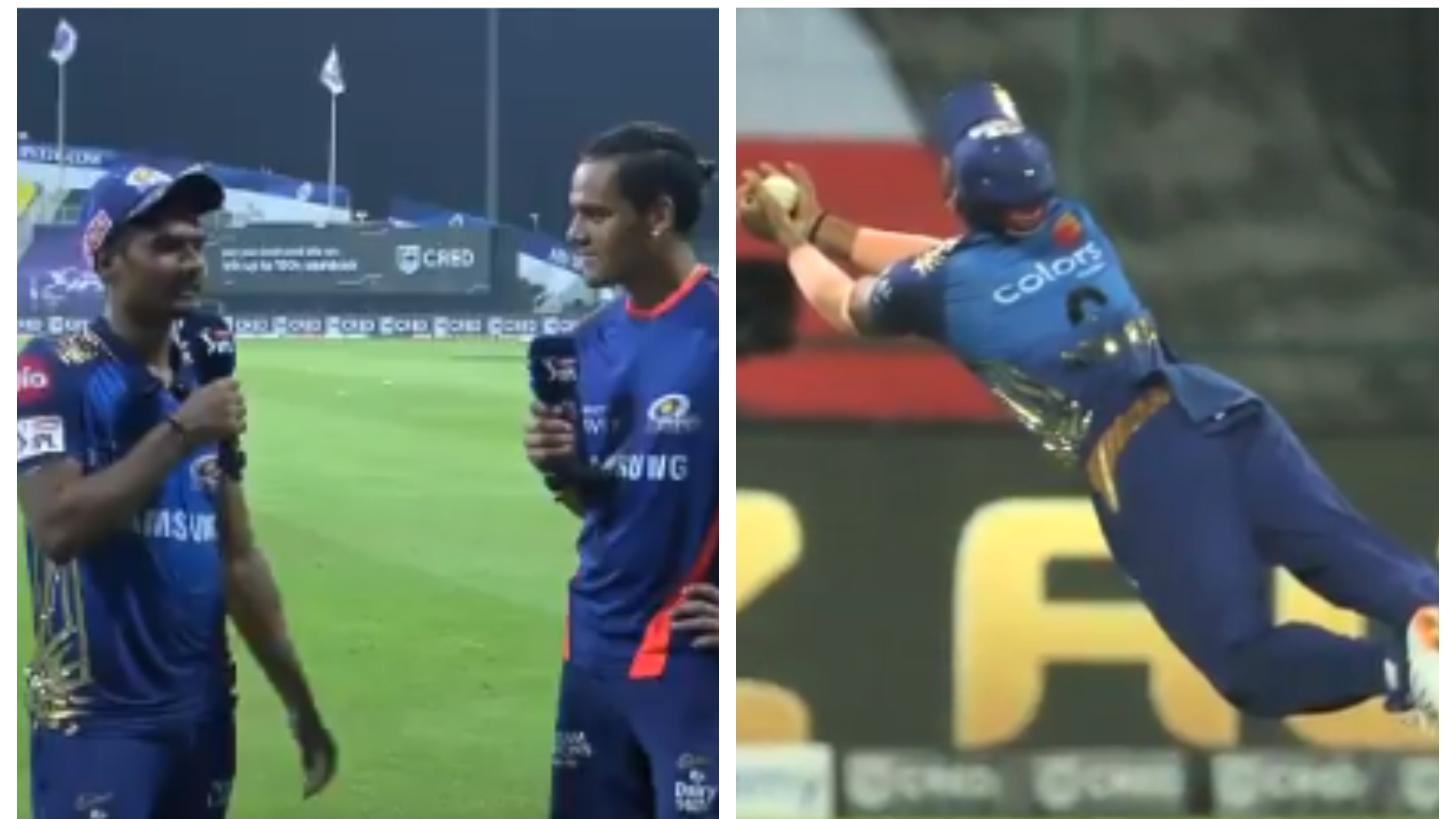 IPL 2020: WATCH – Anukul Roy reflects on his special catch to get rid of Mahipal Lomror
