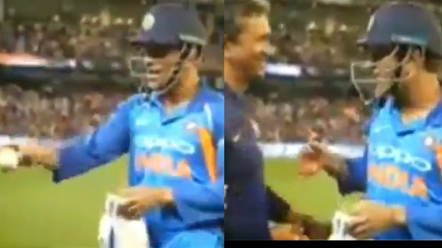 AUS v IND 2018-19: WATCH – MS Dhoni jokes about his retirement rumours after taking the match ball
