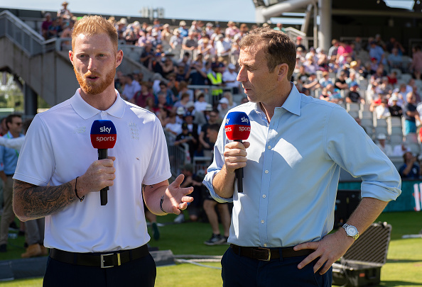 Mike Atherton with Ben Stokes who played IPL 2018 for Rajasthan Royals | GETTY