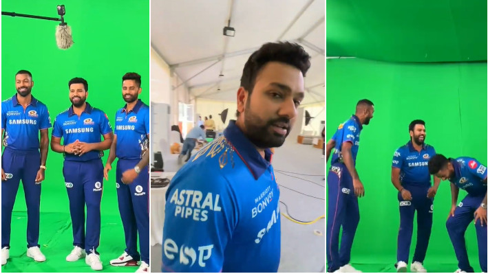 IPL 2021: WATCH - Rohit Sharma shares behind the scene clip with Suryakumar Yadav and Hardik Pandya
