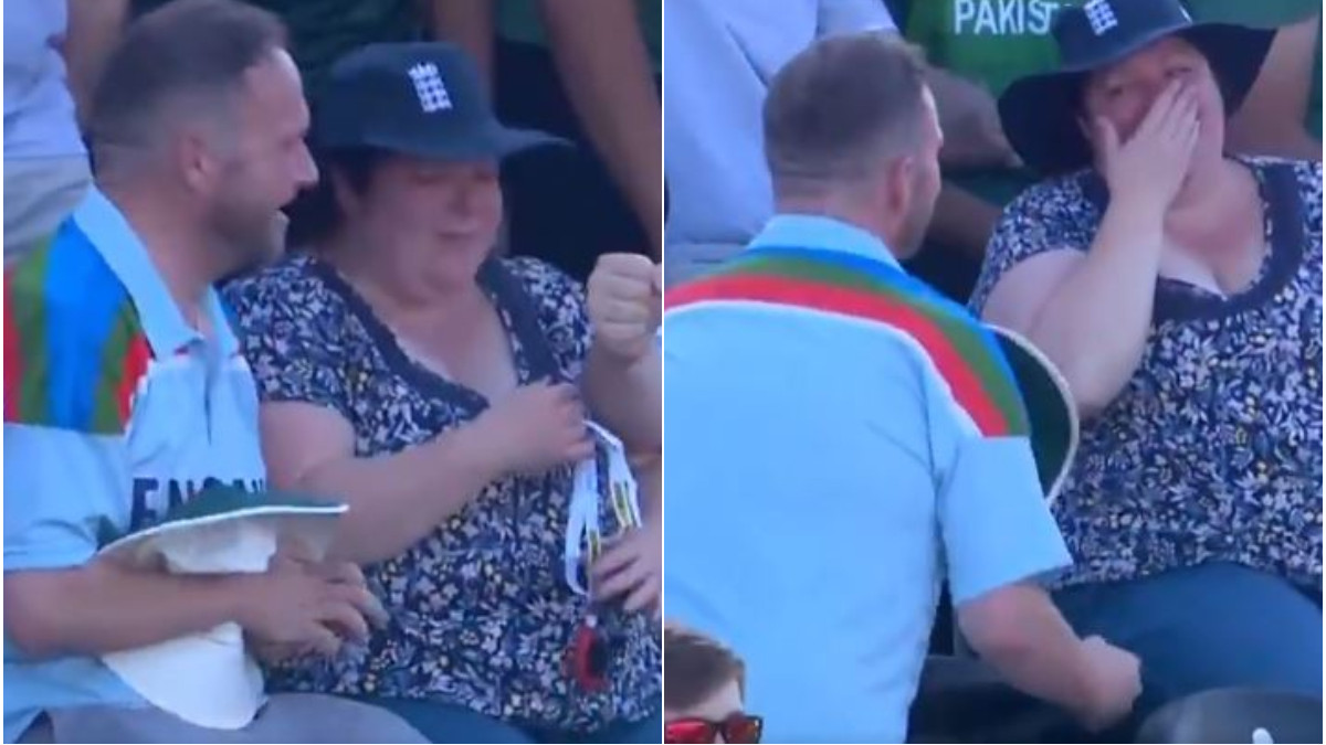 ENG v PAK 2021: WATCH- England fan proposes on big screen during third T20I vs Pakistan