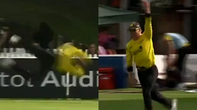 WATCH- Glenn Phillips takes a 'stunning' catch against Middlesex in Vitality T20 Blast