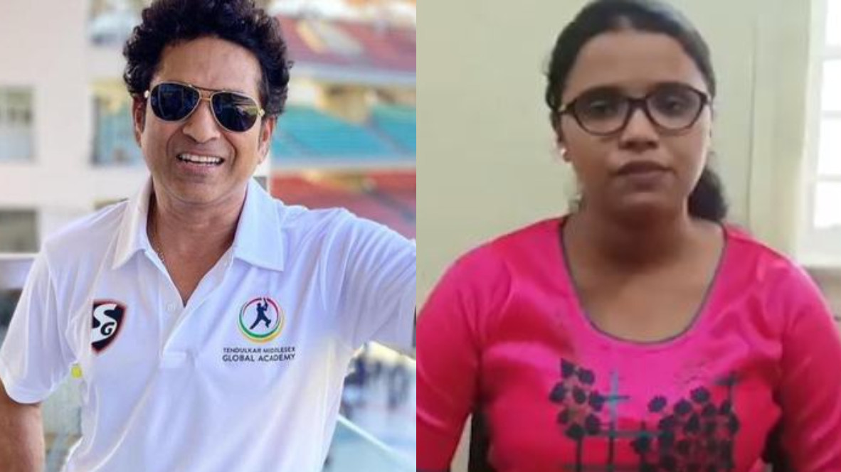Sachin Tendulkar helps 19-year-old Dipti to pursue her dream of becoming a doctor