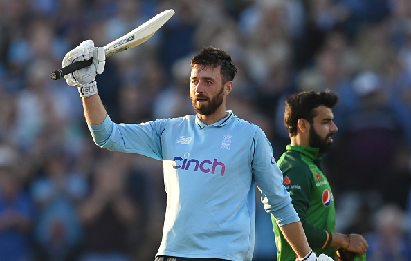 James Vince celebrates maiden ODI century   Getty Images