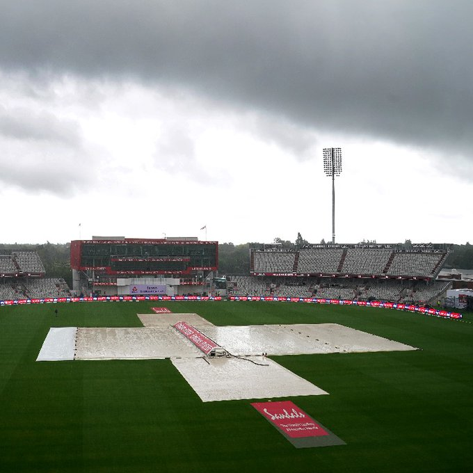 No play was possible on Day 3 of the second Test | Twitter/Sky Sports Cricket