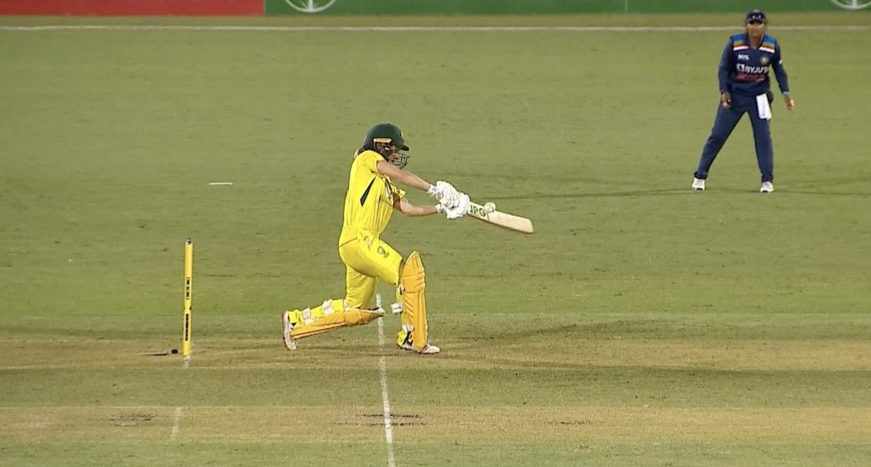 The third umpire declared it a waist-high no-ball | Screengrab