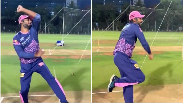IPL 2021: WATCH - Kumar Sangakkara bowls off-spin in nets; RR asks for his inspiration