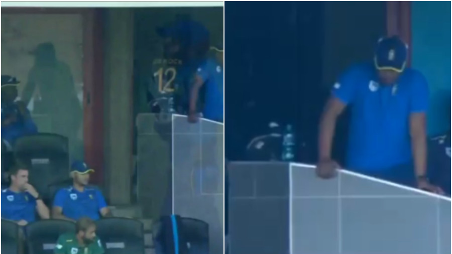 SA v SL 2019: WATCH- Quinton de Kock takes out his frustration in a wild way