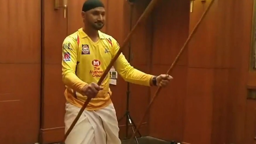 IPL 2019: WATCH – Harbhajan Singh shows off his martial art skills in a shoot for CSK