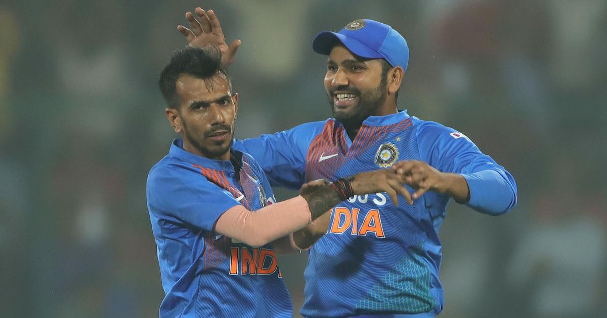 Yuzvendra Chahal with Rohit Sharma | AFP