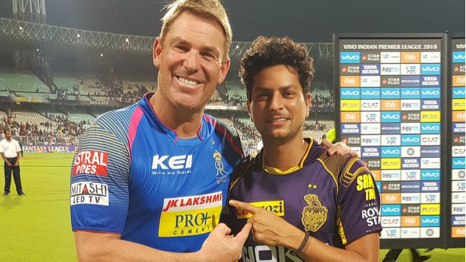 IPL 2018: Kuldeep Yadav meets his idol Shane Warne after his heroics against Rajasthan Royals