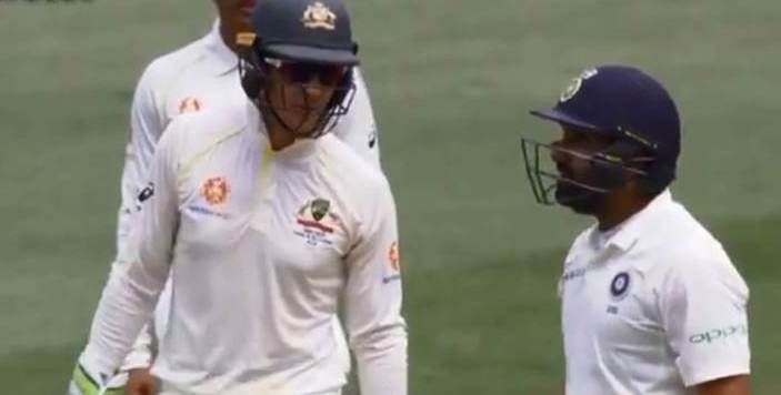 Tim Paine's chatter went on for a couple of overs but Rohit Sharma did not respond | Screengrab